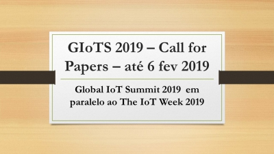 GIoTS 2019 main track papers submission! The new deadline is now February 6th!